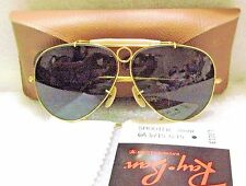 RAY-BAN *NOS VINTAGE B&L AVIATOR L0213 G-15 Bullet Hole Shooter *NEW SUNGLASSES