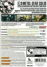 X360 ACTION-METAL GEAR SOLID HD COLLECTION  X36 NEW
