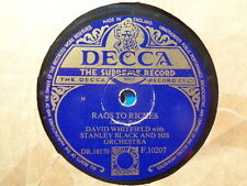 DAVID WHITFIELD - Rags To Riches / Mardi Gras 78 rpm disc (A+)