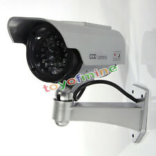 Dummy Fake Solar CCTV Security Camera Blinking w/LED Night Surveillance Monitor
