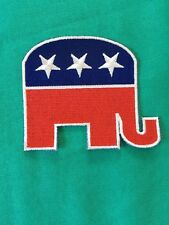 """(1) USA GOP Republican Party Elephant Patch 3"""" Sew/iron President Donald Trump"""