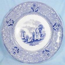 Antique Columbia Blue Transferware Dinner Plate W Adams ca 1850 Transfer Nice!