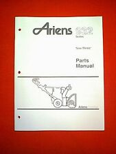 ARIENS 932 SERIES SNO THROS SNOWTHROWER / SNOWBLOWER PARTS MANUAL 3-92