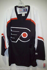 NEW NHL CCM EMBROIDERED CREST ADULT M PHILADEPHIA FLYERS  WHITE COLLAR JERSEY