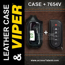 Viper 1-Way Remote 7654V With Leather Case 5501V-5901V-5902V-5906V-4704V-5704V