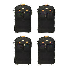 "Pack of 4 - 40"" Black Rolling Wheel Duffel Bag Spinner Suitcase Duffle Luggage"