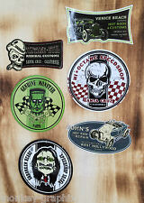 Retro Aufkleber Set 6St. Hot Rods & Skull Speedshop Rockabilly & Biker Sticker