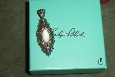 MIB Carolyn Pollack Sterling and Brass Fancy Mother-of-Pearl Enhancer