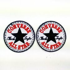 2 PCS CONVERSE ALL STAR EMBROIDERED BADGES IRON ON/SEW ON PATCH BIKER PUNK