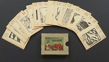 Vintage 1950 Lenormand Fortune Telling Oracle Cards Deck Vtg Germany