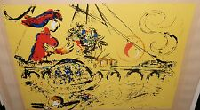 """MARC CHAGALL """"ISLE OF ST LOUIS"""" LIMITED EDITION PLATE SIGNED LITHOGRAPH WITH COA"""