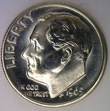 1965 Roosevelt Dime Ten-Cent Coin SMS from United States Special Mint Set