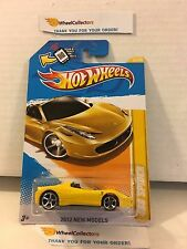458 Spider #25 * Yellow * 2012 Hot Wheels * L16