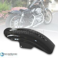 Rear Black Mudguard Fender For Harley Sportster Solo Bobber Chopper Cafe Racer