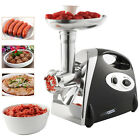 Stainless Steel Electric Meat Grinder Mincer Maker Sausage Filler-2800W-Black