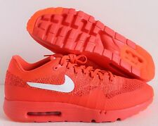 NIKE AIR MAX 1 ULTRA FLYKNIT BRIGHT CRIMSON-WHITE-RED SZ 13 [843384-601]