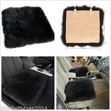 1X Genuine Sheepskin Long Wool Car Seat Breathable Warm Soft Cover Chair Cushion