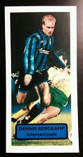 NETHERLANDS - INTER - DENNIS BERGKAMP - Score UK football trade card