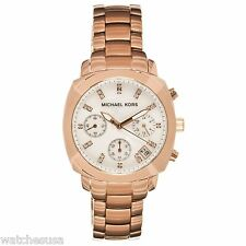 Michael Kors Rose Gold Stainless Steel MOP Dial Crystal Chronograph Watch MK5336