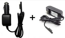 Power Wall Charger +DC Car Adapter For Microsoft Surface Pro 3 Windows Tablet US