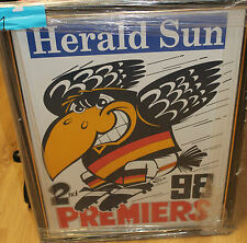 ADELAIDE CROWS PREMIERS 1988 UNSIGNED WEG POSTER FRAMED