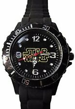 Star Wars Series Name Logo Black Silicone Watch