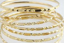 """7 Matching 22K Yellow Gold Bangles 7""""  1.82 Troy Oz of Pure"""