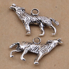 10x Charms Animal Wolf Pendant Necklace Jewellery Crafts Tibetan Silver /G770
