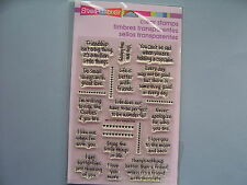 STAMPENDOUS RUBBER STAMPS CLEAR LIFE WORDS STAMP SET