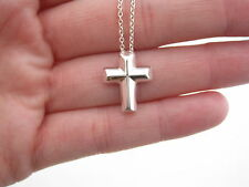 Large Tiffany & Co Picasso Tenderness Cross Heart Necklace 18 Inch Box Included