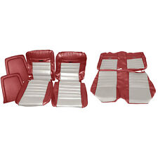 067603 L957/2290 Mustang Upholstery Full Set With Front Bucket Seats Red And Whi