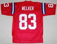 WES WELKER NEW ENGLAND PATRIOTS 50TH ANNIVERSARY REEBOK SEWN JERSEY RED XL