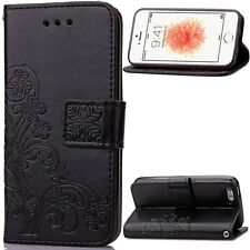 New Pattern Leather Magnetic Flip Wallet Case Cover For Apple iPhone 5 6 6S Plus