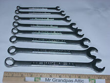 8 RARE vintage Craftsman Quick Wrenches 12pt Combo Special tool 3/4 - 5/16