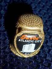 Vintage Thimble, Gold Color metal, SANDS Casino Hotel, Atlantic City, NJ