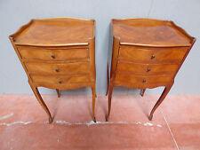 paire de chevets louis XV en bois de rose / antique kingwood night stand table
