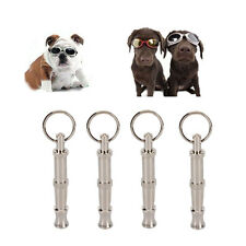 New 2017 Pet 4 X Dog Training Whistle UltraSonic Sound Ultra Sonic Silver Color