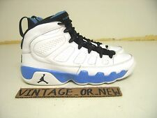 Nike Air Jordan IX 9 Powder Blue Retro GS 2010 sz 5Y cool grey baron olive hare