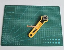 Leather Craft 28mm Rotary Cutter Blade w/A4 Cutting Mat F Quilting Fabric Paper