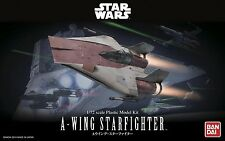 100% Authentic Bandi Star Wars 1/72 A-Wing Starfighter Model Kit BAN206320