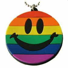 Gay Pride Pendant Rubber Smiley