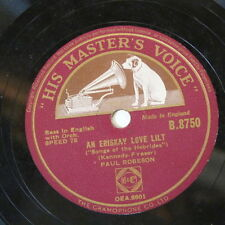 78rpm PAUL ROBESON an eriskay love lilt / song of the volga boatmen