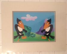 Heckle & Jeckle Production Cel & Background Filmation Studio Seal Matte & Frame