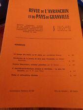 Revue de l'Avranchin et du Pays de Granville N° 319 St Michel de Montjoie etc..