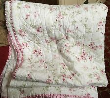 SIMPLY SHABBY CHIC FLORAL CHERRY BLOSSOM 88x92 QUEEN / FULL QUILT RACHEL ASHWELL