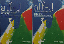 2 X ALT-J TOUR FLYER CARDS - THIS IS ALL YOURS - ALT J THE O2 LONDON 2015