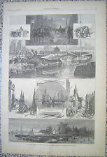 STREET CLEANING NEW YORK CITY1877 HARPER'S WEEKLY ENGRAVING
