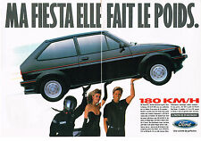 PUBLICITE ADVERTISING  1985   FORD  FIESTA  XR2   (2 pages)