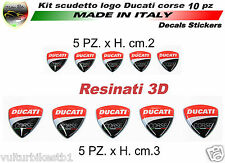 10 Adesivi scudetto ducati corse in gel 3D decal stickers resinati  (V339)