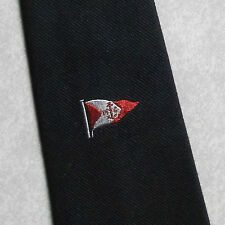 FLAG PENNANT TIE VINTAGE RETRO 1970s 1980s NAVY COMPANY LOGO NAUTICAL SAILING
